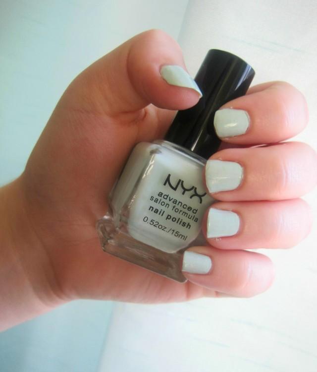 NYX Pastel mint nail polish