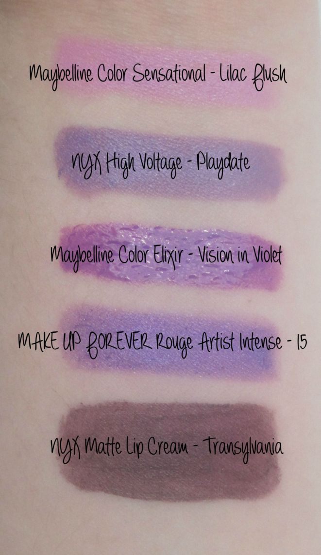 Favorite Purple Lipstick Swatches